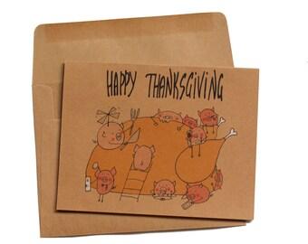 Funny thanksgiving card cute thanksgiving card family funny thanksgiving card gobble gobble thanksgiving card thanksgiving card funny pig thanksgiving card turkey thanksgiving cards m4hsunfo