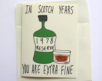 1978 Scotch Card For Husband