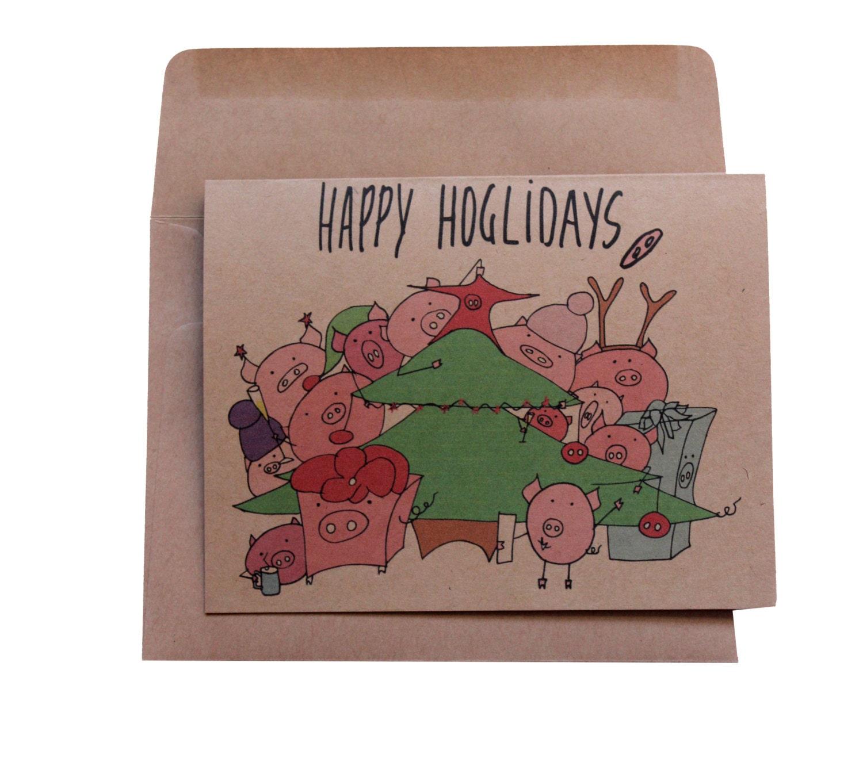 Funny Christmas card holiday cards funny puns happy holidays   Etsy