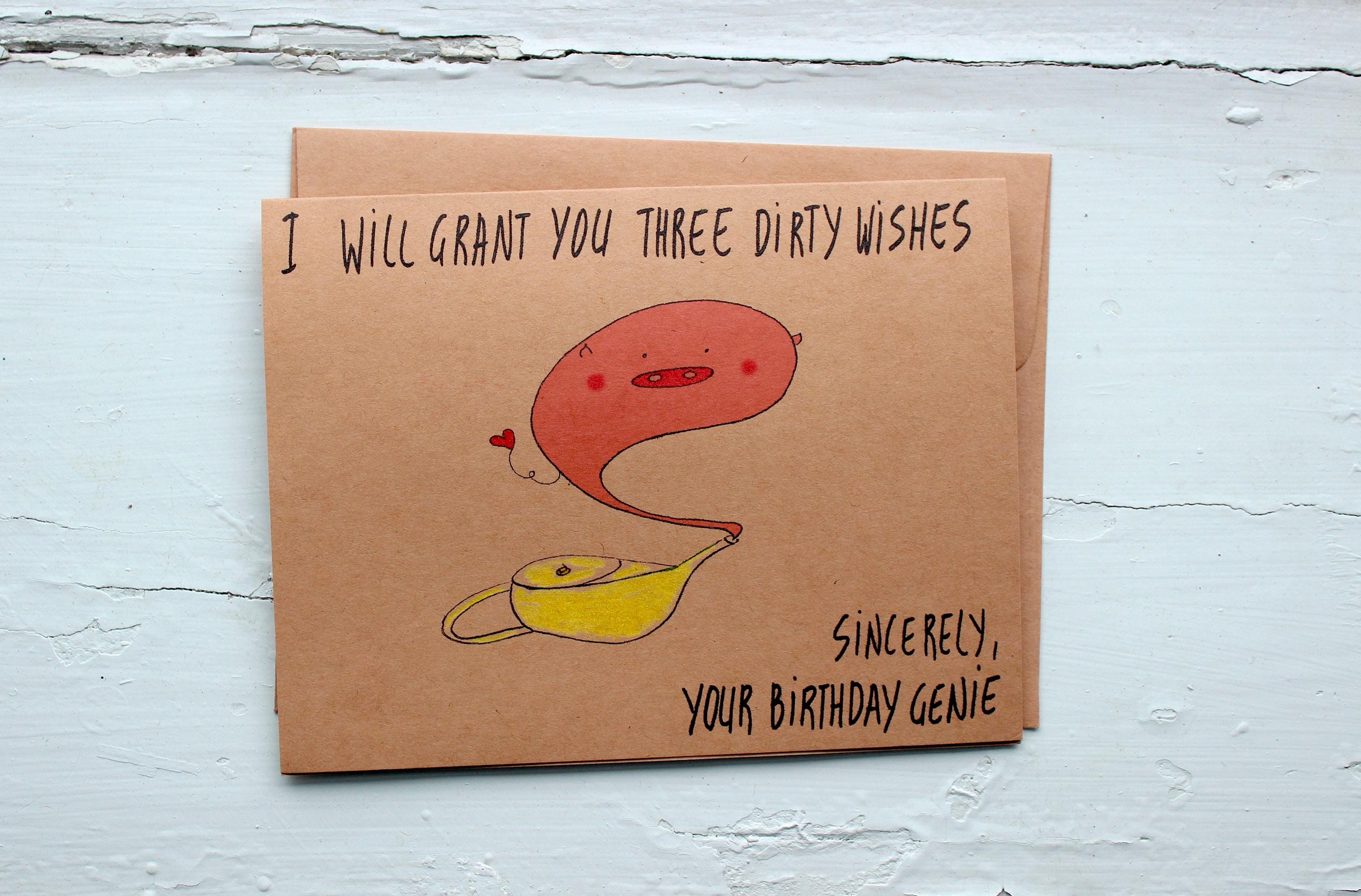 Naughty Birthday Card Girlfriend Dirty