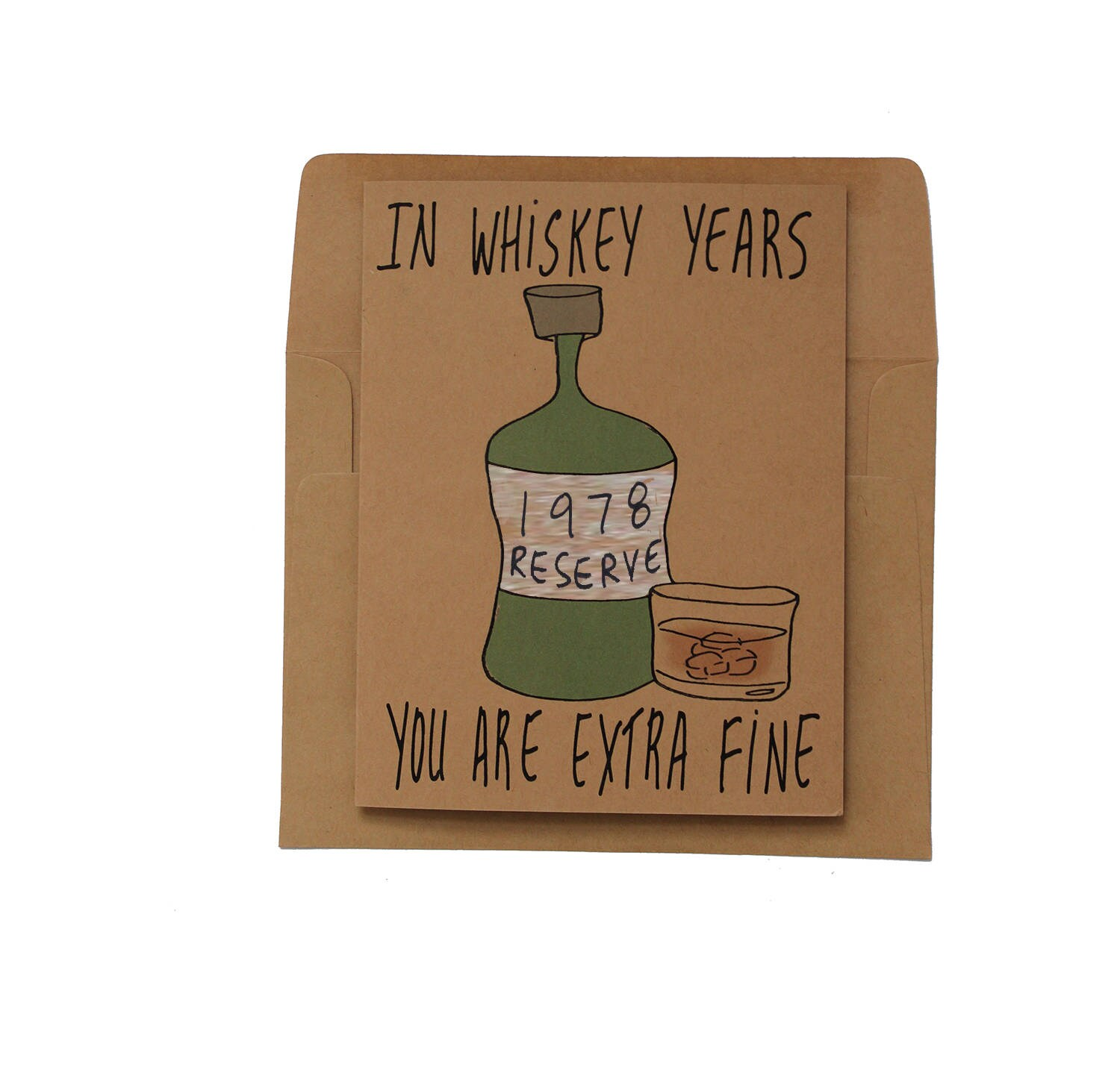 40th Birthday Card For Brother Whiskey Birthday Card 1978