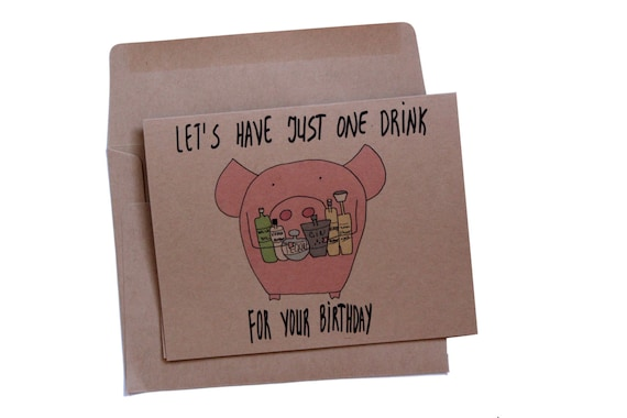 21st Birthday Card Best Friend Funny 21 Birthday Card Alcohol Etsy