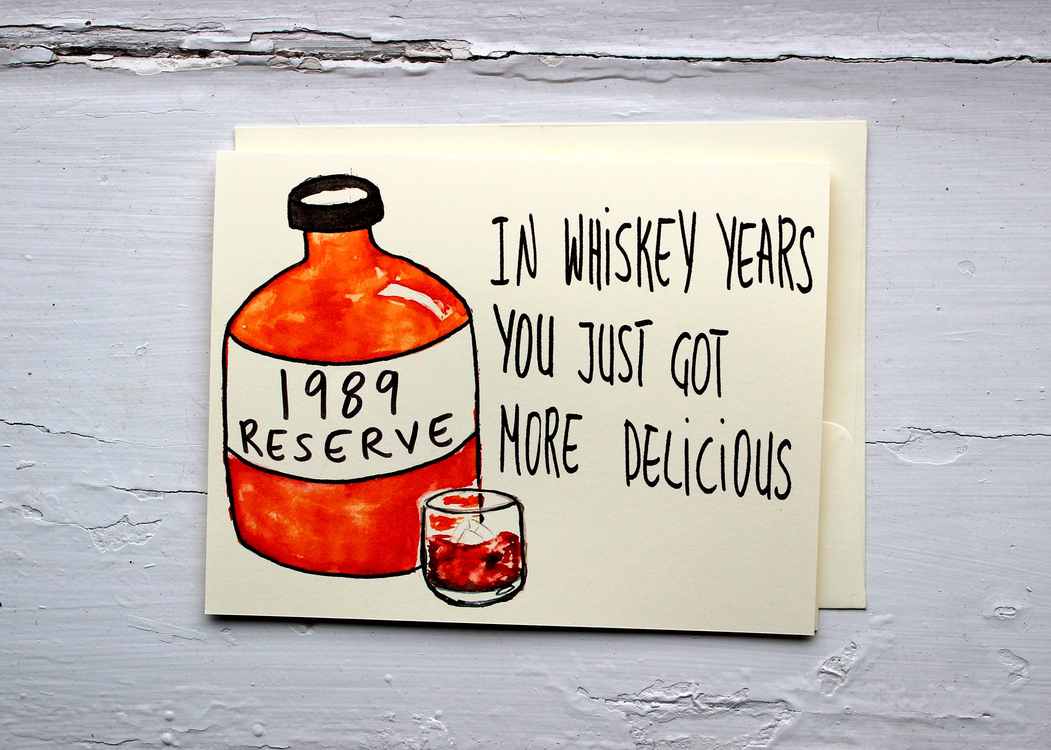 Funny 30th Birthday Card For Whiskey Lover Born In 1989