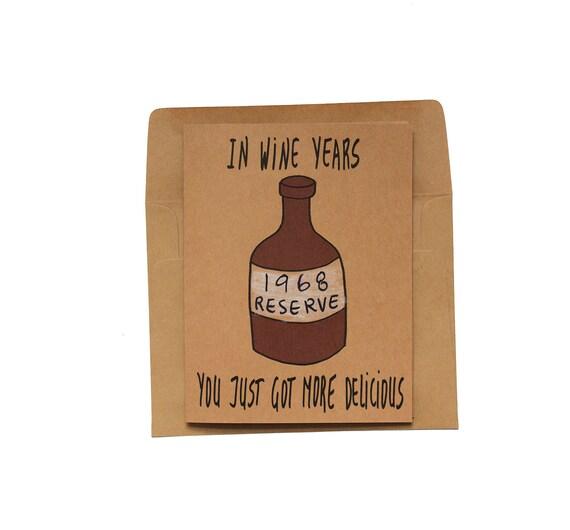 Funny 50th Birthday Card Her Wine 50th Birthday Card Funny Etsy