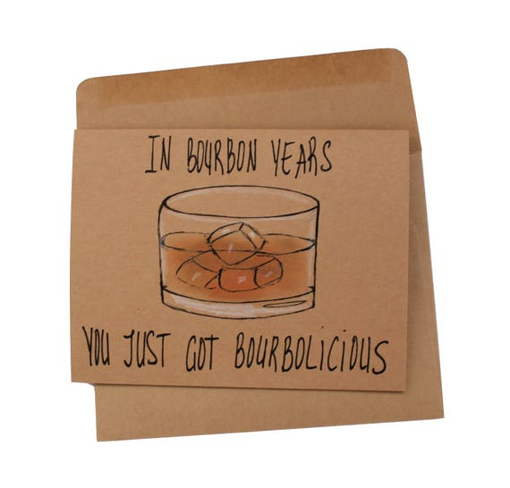 Birthday Card Bourbon Funny Bourbon Birthday Card Brother