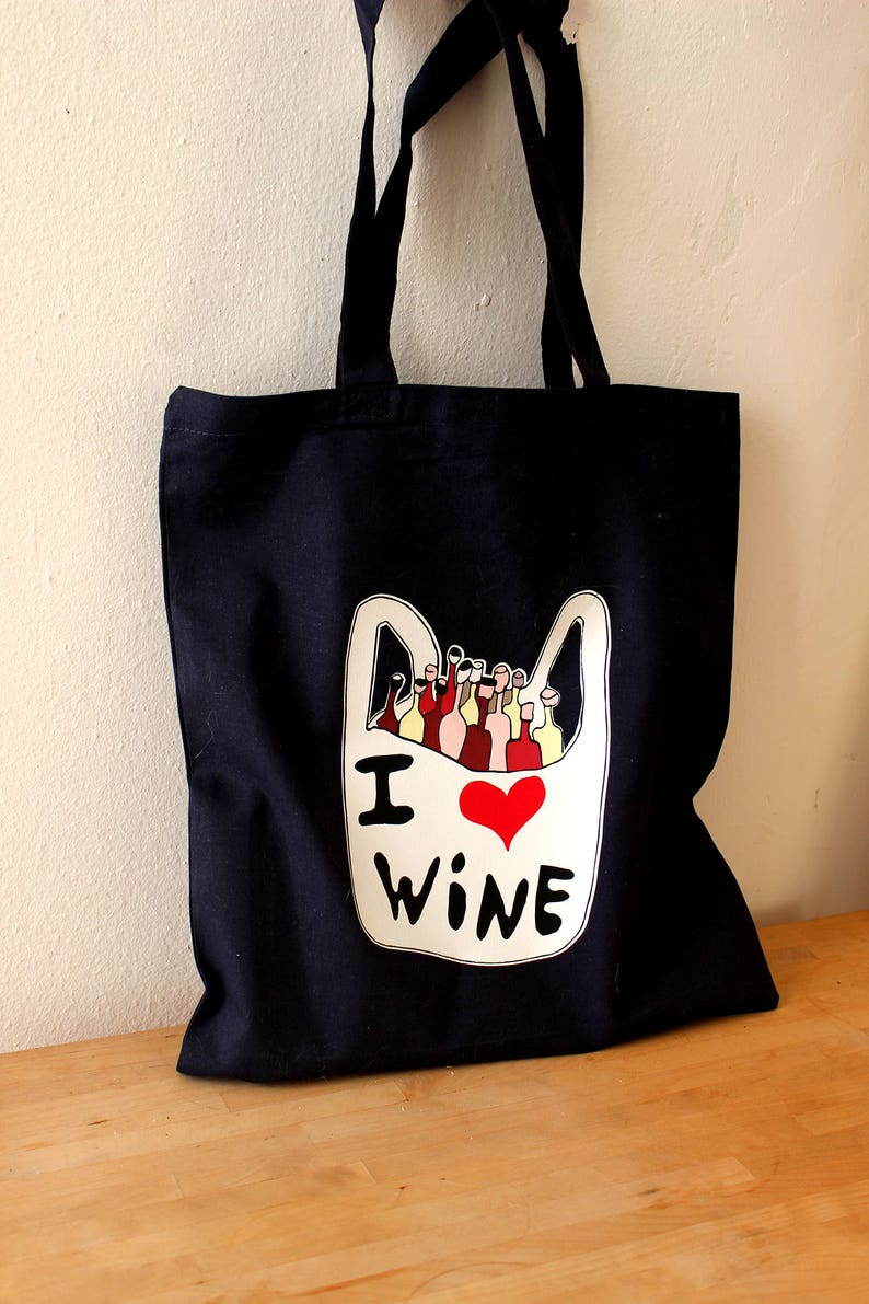 I love wine tote bag gift for a wine lover funny cotton bag wine lover canvas tote bag wine tote bag i love wine cotton tote bag