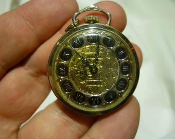Pendant watch etsy f6 vintage edward a waldman gold tone black pendant watch needs work see description aloadofball Gallery