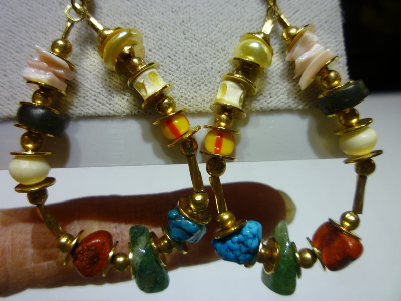 S7 Vintage Beads from Around The World Necklace /& Earring Set.