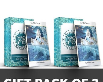SALE SALE - Gift Pack of 2 - Collaboration - Tarot of the Water - 78 Tarot Nautical - divination, occult, tarot decks, new-age