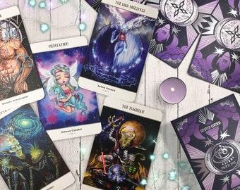 LAST ONES 78 Tarot Astral Deck - Space Tarot, Star Tarot, Aliens, Sci-Fi, Cosmic, Intergalactic, Indie Tarot, Futuristic Tarot, LE
