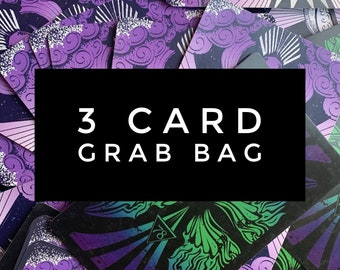3 card Tarot Card Grab Bag for crafting journaling or reading - 78 Tarot cards, 78Tarot, tarot cards, tarot gift, divination, cartomancy