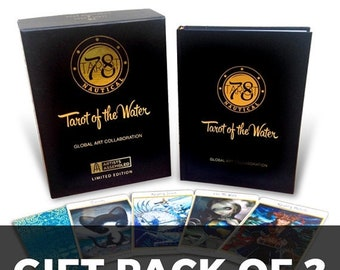 SALE Gift Pack OF 2 Collector's Edition - Deck with Art Book - Signed, Numbered, Limited Edition, tarot, tarot deck