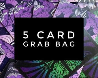 5 card Tarot Card Grab Bag - for crafting journaling or reading - 78 Tarot cards, 78Tarot, tarot cards, tarot gift, divination, cartomancy