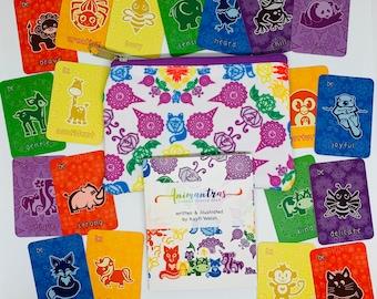 Animal Oracle Deck & Case set | Chakra Deck | Animantras Oracle | Mindfulness | Chakra Cards | Animal Cards | Affirmation Cards | Kids Deck