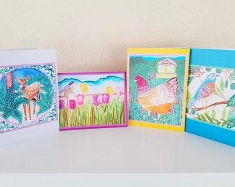 Art print greeting cards, Set 1