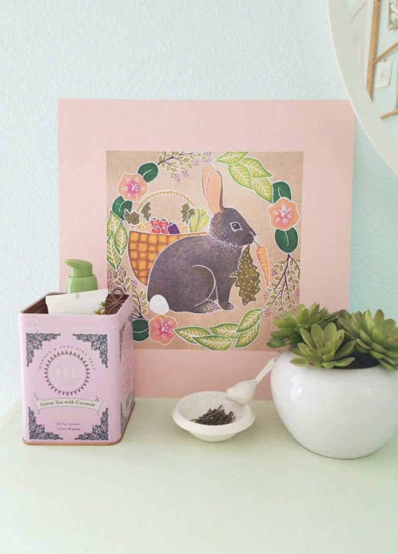 Rabbit art print image 0