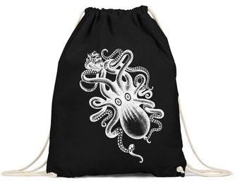Gymsac gym bags tote bag hipster sport bag backpack bag Octopus Octopus giant octopus divers Octopus diver