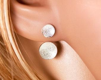 Double studs concave 925/- Silver