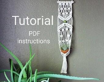 Macrame Hanger Kit, Macrame Tutorial,  Macrame PDF, Macrame, Macrame Pattern, DIY Plant Hanger, DIY air plant holder, plant hanger pdf