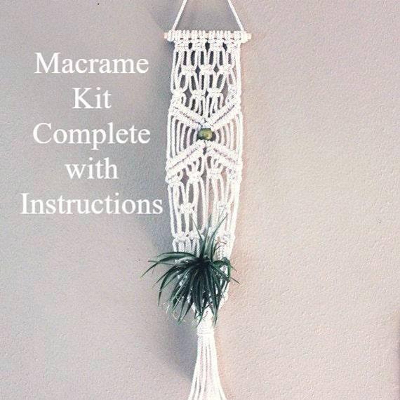 Macrame Plant Hanger Kit Craft Kit Macrame Hanging Kit Etsy