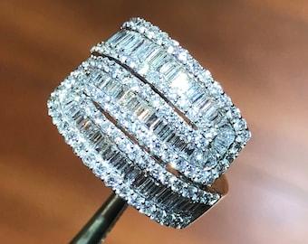 18K Diamond Ring April Birthstone