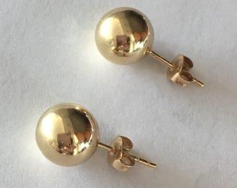 14k gold earrings Gold 10mm studs item 30