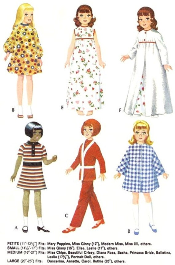 "Patsy 13/"" 14/"" Doll Pattern ~ International Costumes Spanish Vtg Shirley Temple"