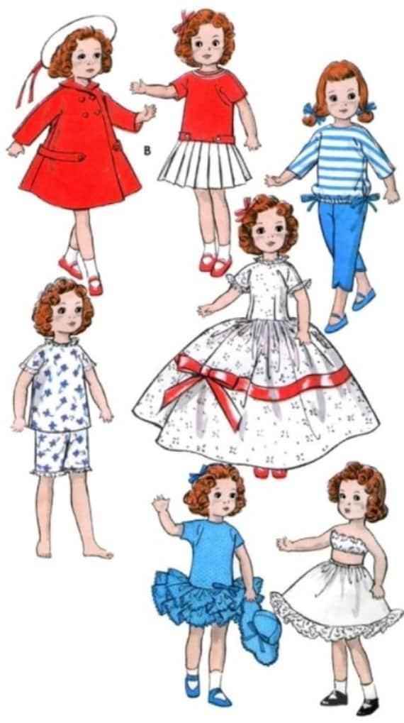 """Vintage Shirley Temple 18/"""" Pattern ~ Panties Slip Bra"""