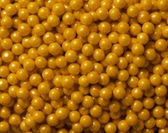 "Shimmer Gold Sugar Pearls  ""Cake/Cupcake/Cookie Decorations"""