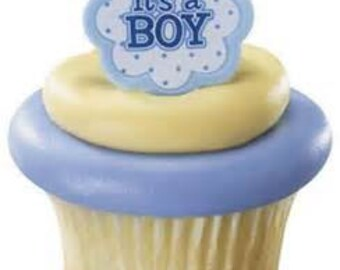 IT'S A BOY! Cupcake Rings