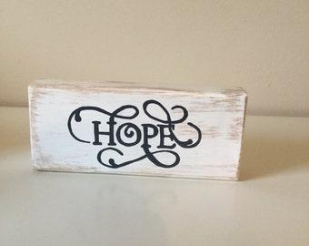 Hope wood block