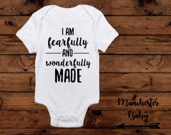 c011974ec Fearfully and wonderfully made christian onesie