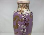 Meiji Period Satsuma Vase Lamp Base