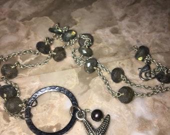 Black Pearl Starfish necklace