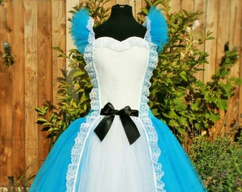 ADULT Alice Handmade Tutu Dress - Birthday, Party, Photo Prop, Pageant, Cosplay