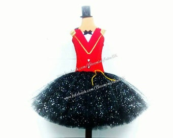 ADULT Ringmaster Super Sparkly Handmade Tutu Dress and Sparkly Top Hat - Birthday, Party, Photoshoot, Pageant, Circus