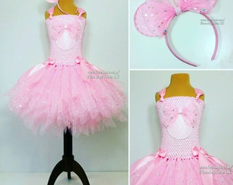 Mouse Super Sparkly Tutu Dress with Sparkly Ears headband-Birthday, Party, Pageant, Fancy Dress, Princess