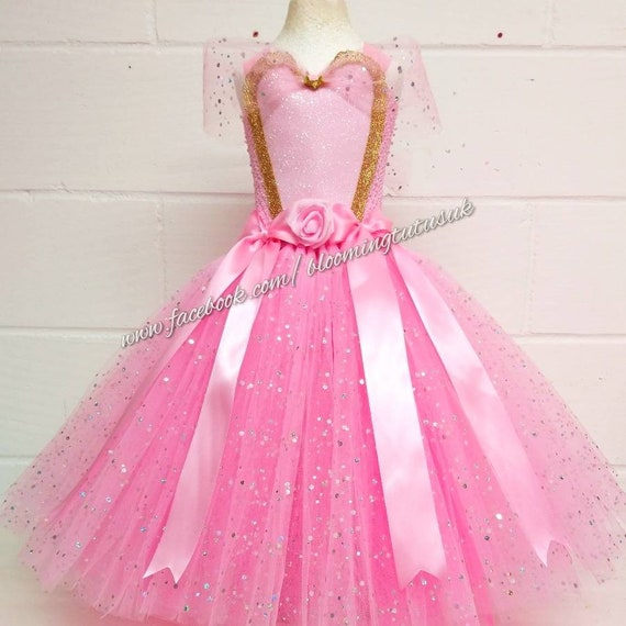 Pink Princess Super Sparkly Tutu Dress Birthday, Party, Pageant, Fancy Dress, Princess FREE UK DELIVERY