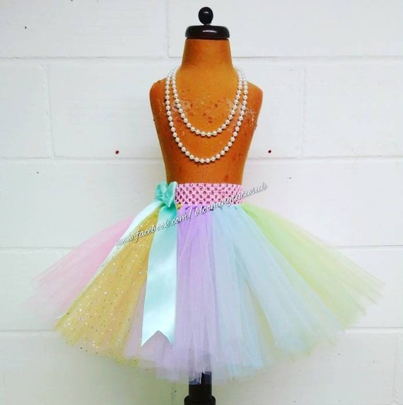 Ladies RAINBOW MAGICAL UNICORN Halloween Fancy Dress Tutu Girls Costume Skirt UK