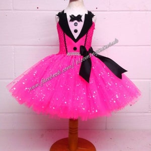Pageant Sparkly Firefighter Inspired Tutu Dress and Sparkly Hat-Birthday FREE UK DELIVERY Photo Shoot Party Fancy Dress