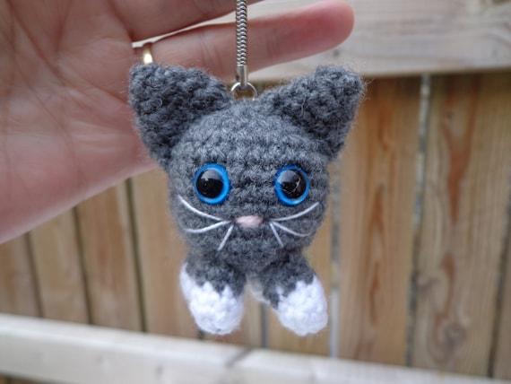 Crochet Cat Keychain,Handmade Gift for Cat Lover,Animal Amigurumi ... | 428x570