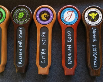 Chalkboard tap handle with full color custom graphic, 8 inches tall