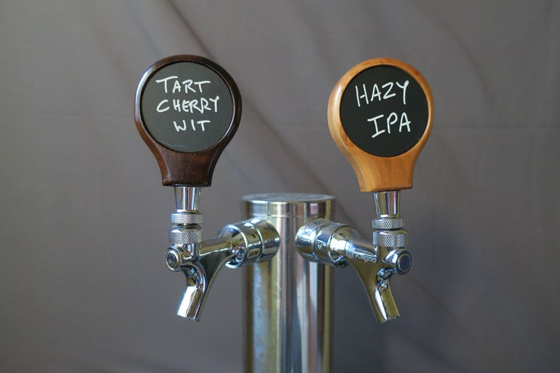 Keg Tap Handle chalkboard in hardwood 3.25 inches tall image 0