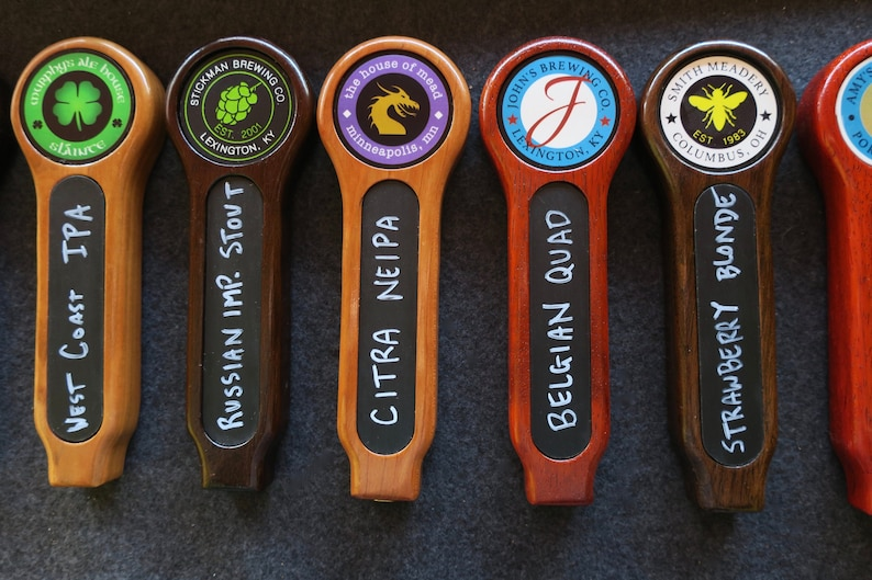 Chalkboard tap handle with full color custom graphic 8 inches image 0
