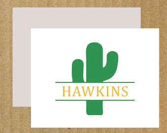 Personalized Cactus Cards, Set of 10, Cactus, Note Cards, Thank You Cards, Cactus Stationery, Southwest Stationery