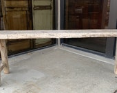 Rare Long Chinese Antique Original Primitive Elm Wood Long Bench