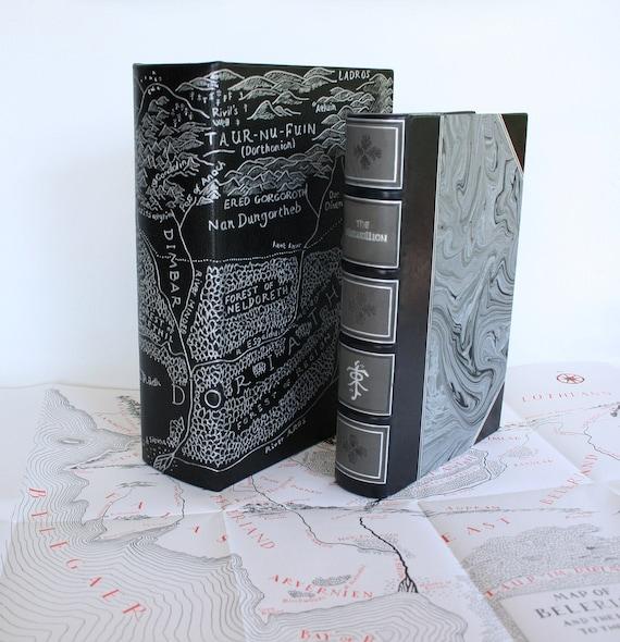 RESERVED - Please do not buy, Silmarillion bookbinding, Tolkien custom binding, leatherbound fantasy book, handmade leather book