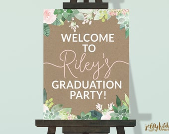 Grad Party Welcome Signs