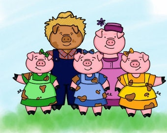 The Sloppy Little Pigs - Children's Story