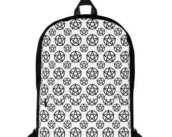 Black and White Pentacle Pattern Cheeky Witch® Backpack